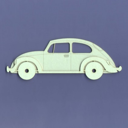 tekturka garbus samochód - Crafty Moly 589