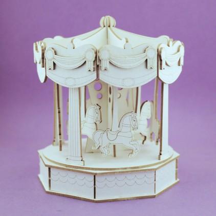 tekturka karuzela, wesołe miasteczko 3D - Crafty Moly 1256