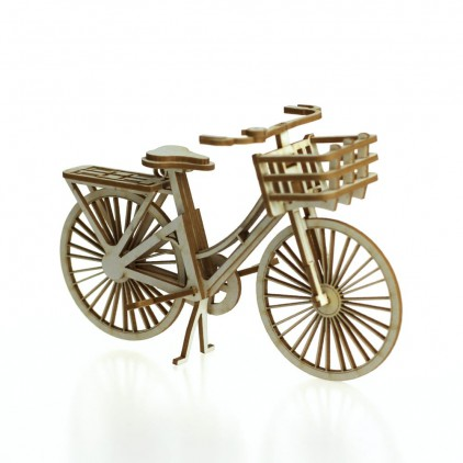 cardboard bicycle with basket 3D- Crafty Moly 1407