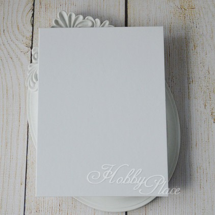Album base accordion, harmonica white paper cover, white cards 14,5 x 19,5 - Eco-scrapbooking