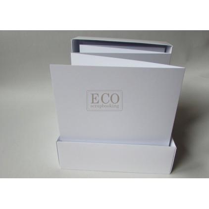 Baza albumowa harmonijkowa w pudełku biała - 15,5 x 15,5 - Eco-scrapbooking