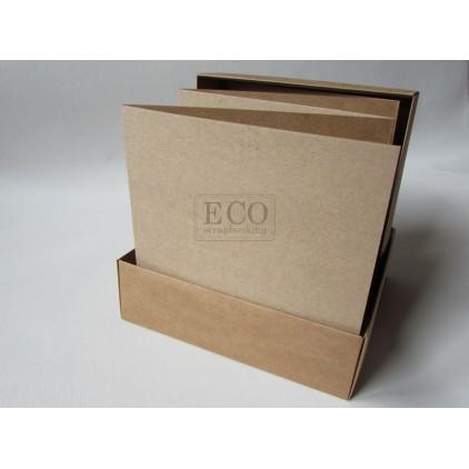 Baza albumowa harmonijkowa w pudełku kraft - 15,5 x 15,5 - Eco-scrapbooking