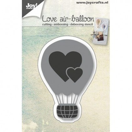 wykrojniki do papieru balon z sercami - Joy Crafts 6002/0665