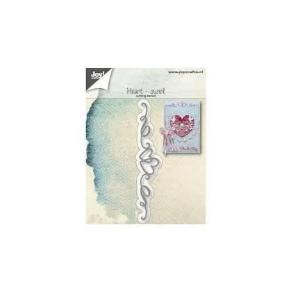 wykrojniki do papieru serca ze wstążką - Joy Crafts 6002/1266