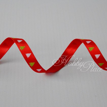 christmas tree 1 red satin ribbon