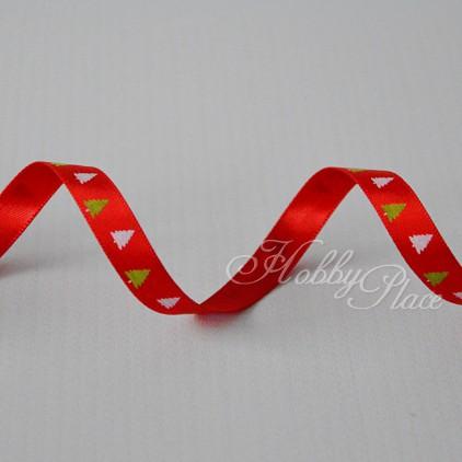 christmas tree 1 red satin ribbon