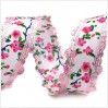 Trim with decorative edges - pink flowers