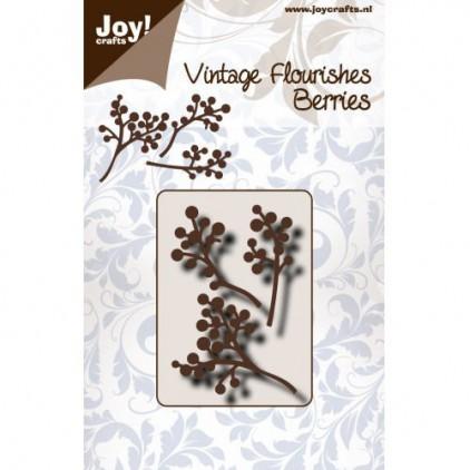 wykrojniki do papieru gałązka z kuleczkami - Joy Crafts 6003/0090