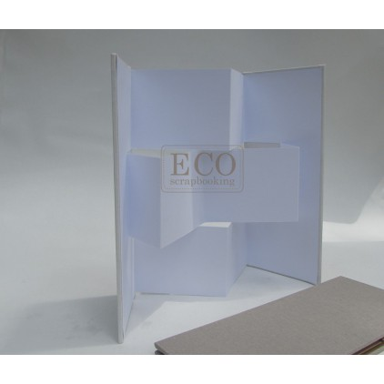 Album base, card screen white with cover- Eco-scrapbooking