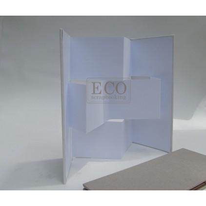 Baza albumowa, kartka parawan biały z okładką - Eco-scrapbooking