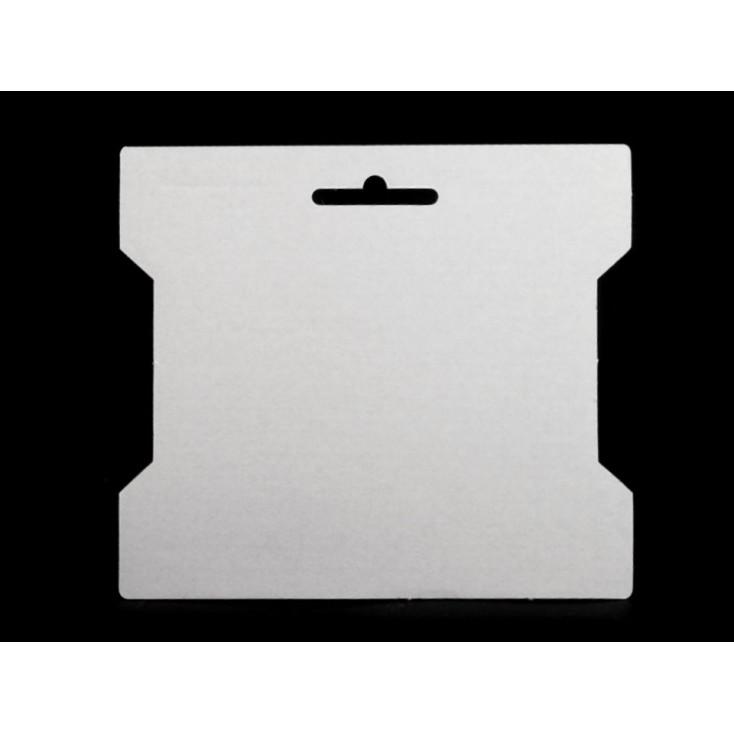 Base for decorating a bobbin, cardboard, cardboard spool