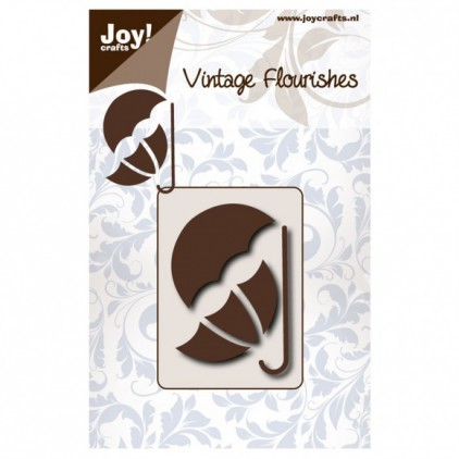 cutting die vintage fluorishes umbrella Joy Crafts 6003/0084