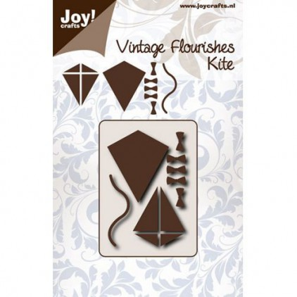 cutting die vintage fluorishes kite Joy Crafts 6003/0073