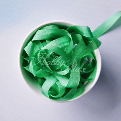 wstążka vintage - wstążki gnieciuchy - 1 metr - 24993 kelly green