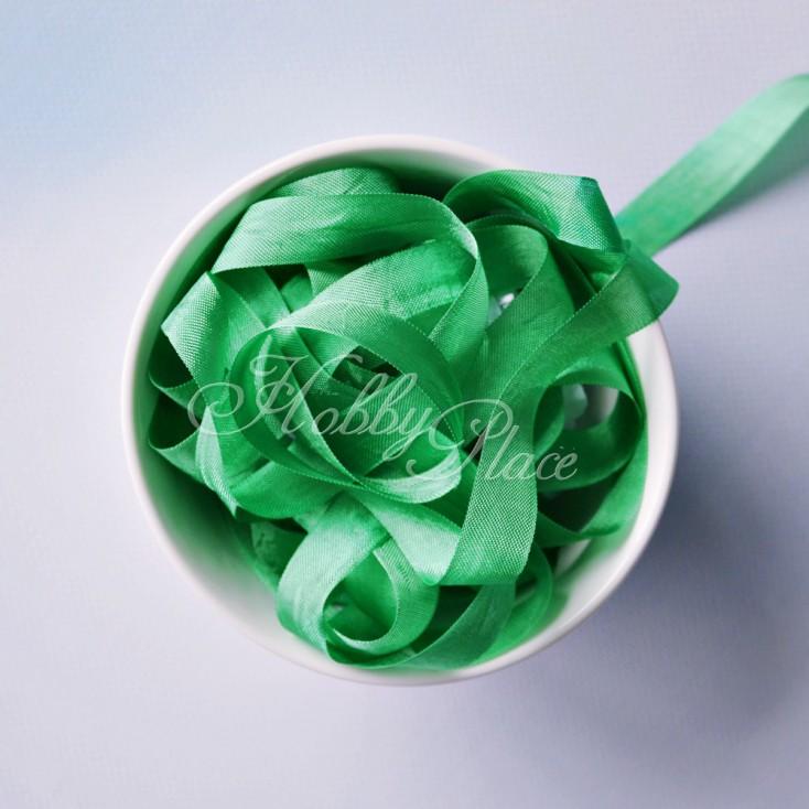 Vintage Style Rayon Seam Binding Ribbon Kelly Green