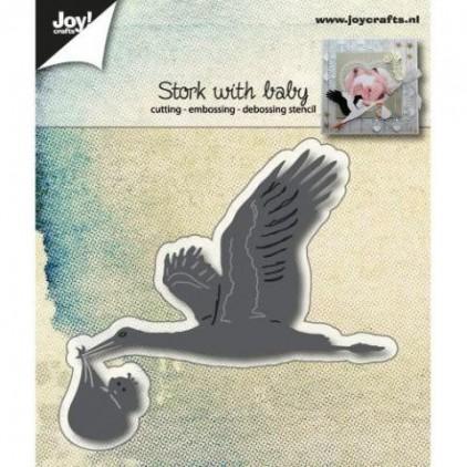 wykrojniki do papieru bocian z dzieckiem - Joy Crafts 6002/1015