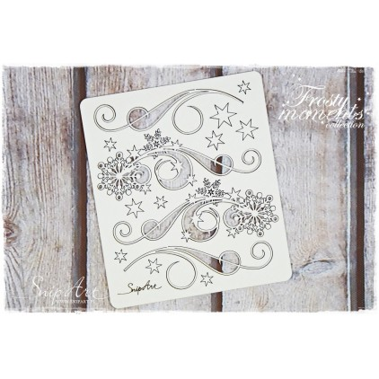 decors with snowflakes set 1 - laser cut, chipboard - snipart frosty moments