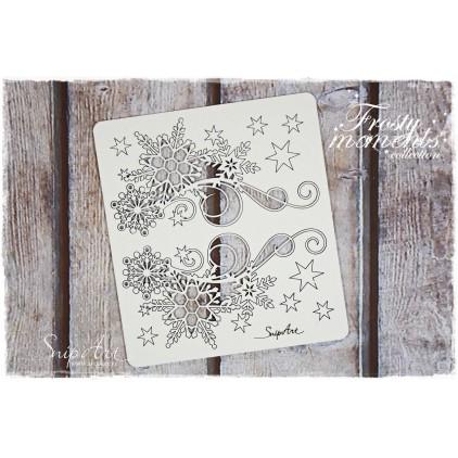 dekory ze śnieżynkami zestaw 2 - tekturka - snipart frosty moments