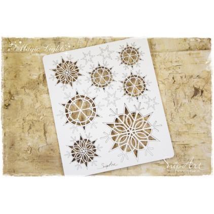 snowflakes illuminations - laser cut, chipboard - snipart magic lights