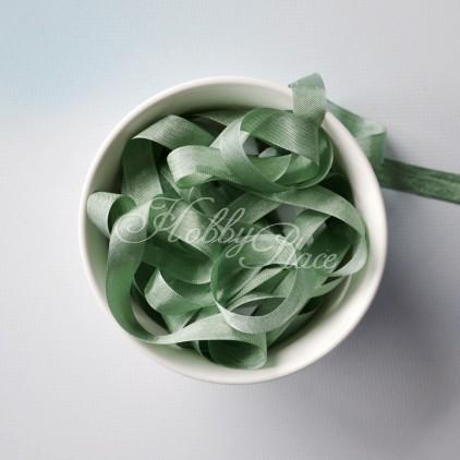 wstążka vintage - wstążki gnieciuchy - 1 metr - 25023 metal green