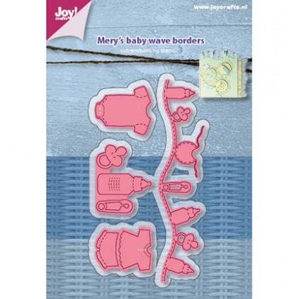 wykrojniki do papieru dziecięce elemnty Joy Crafts 6002/1216 Mery's baby wave borders