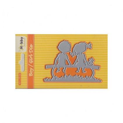 wykrojniki do papieru chłopiec i dziewczynka - Nellie's Choice HSDJ028-Boy/girl