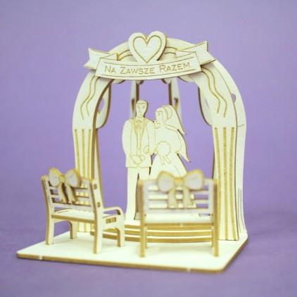 Ślubna pergola 2 3D - tekturka - Crafty Moly 1401