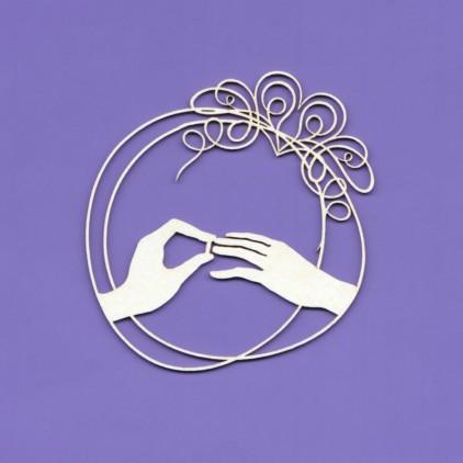 wedding doodles ramka 7 tekturka - Crafty Moly 1237