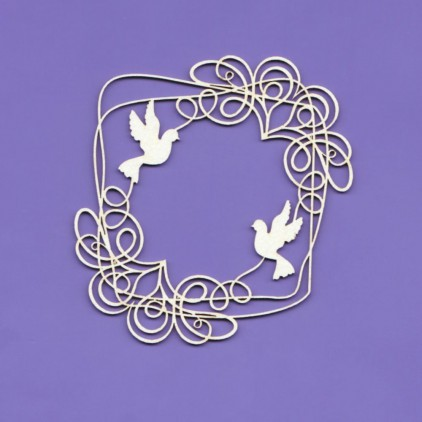 wedding doodles frame 1 - laser cut, chipboard - Crafty Moly 1237