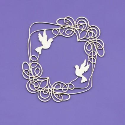wedding doodles ramka 1 tekturka - Crafty Moly 1228