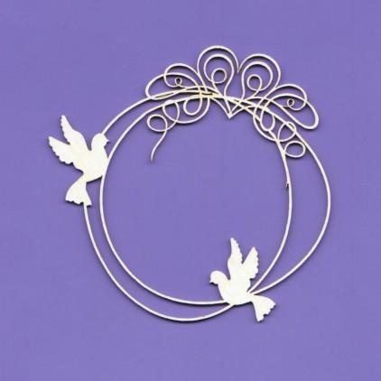 wedding doodles ramka 5 tekturka - Crafty Moly 1242