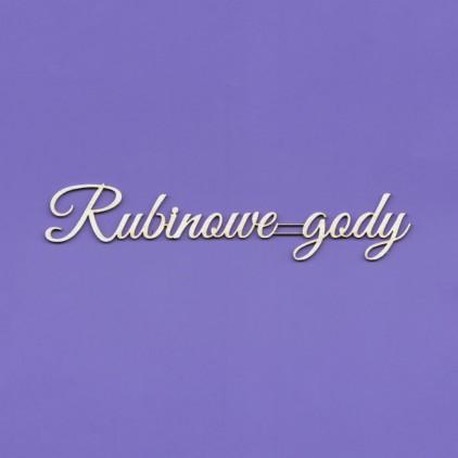 rubinowe gody (40 rocznica ślubu) napis - tekturka - Crafty Moly 1434