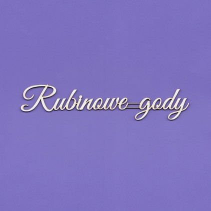 rubinowe gody inscription - laser cut, chipboard - Crafty Moly 1434
