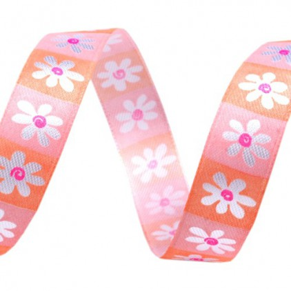 spring flowers ribbon 1 - 1m satin ribbon