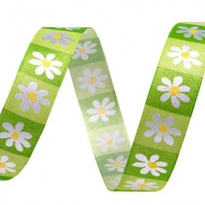 spring flowers ribbon 2 - 1m satin ribbon