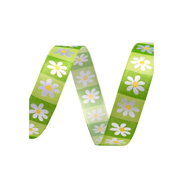 spring flowers ribbon 2 - 1m satin ribbon