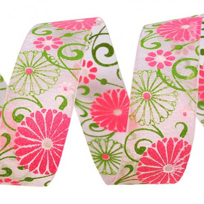 spring ribbon 1 - 1m chiffon ribbon