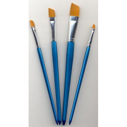 Set of flat nylon brushes for painting 02 - 4 pieces