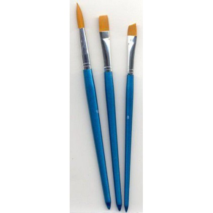 Set of nylon brushes for painting 01 - 3 pieces