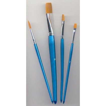 Set of nylon brushes for painting 03 - 4 pieces