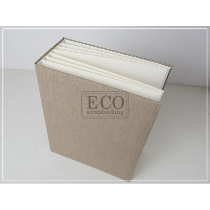 Baza albumowa Bazyl naturalna okładka pion - 21 x 16 cm- Eco-scrapbooking