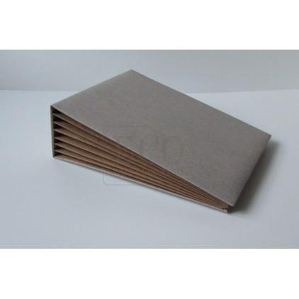 Baza albumowa Bazyl naturalna okładka pion kraft - 21 x 16 cm- Eco-scrapbooking