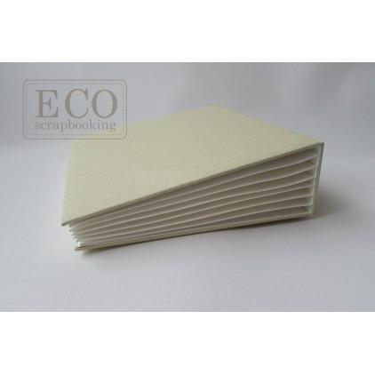 Baza albumowa Bazyl biała okładka- 16 x 21 cm- Eco-scrapbooking