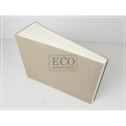 Baza albumowa Bazyl naturalna okładka - 21 x 16 cm- Eco-scrapbooking