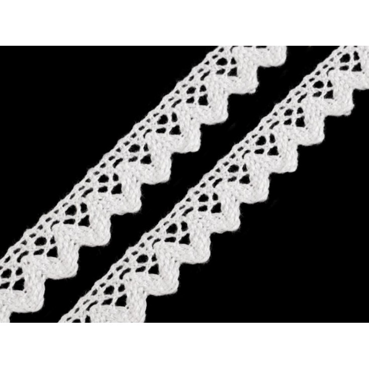 Cotton lace - widh 1,5cm - 1 meter - white