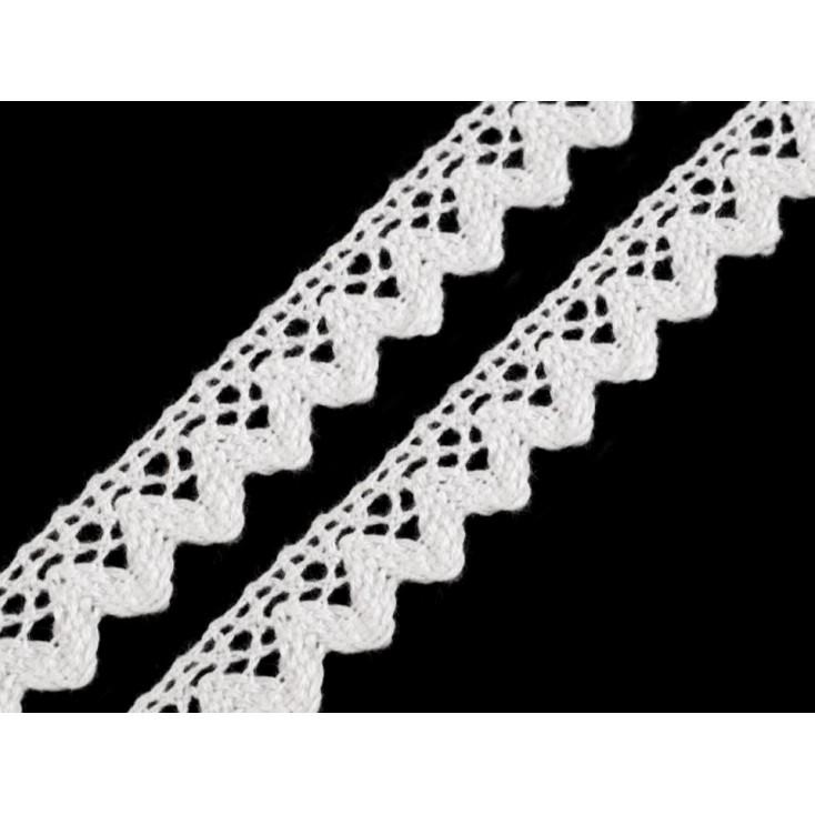 Koronka bawełniana biała - szerokość 1,5cm - 1 metr