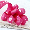 pink ribbon with hearts 02 - grosgrain ribbon 1m