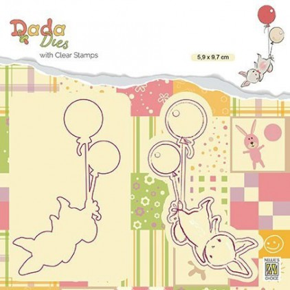 stamp and die Balloon flight DADA - Nelie's Choice DDCS005