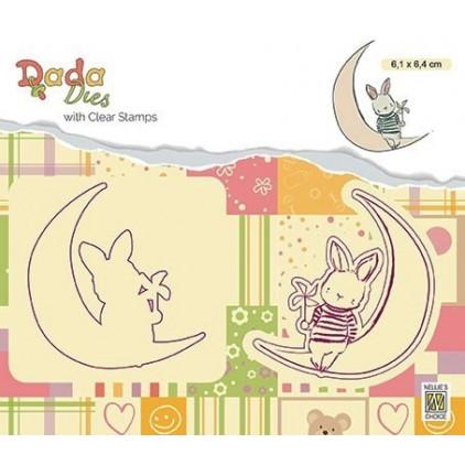 stempel i wykrojnik moon-księżyc DADA - Nellie's Choice DDCS007