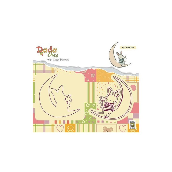 stamp and die Moon DADA - Nelie's Choice DDCS005